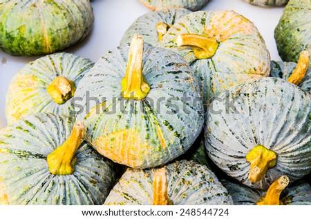 Fresh pumpkin at fresh market, Thailand - stock photo