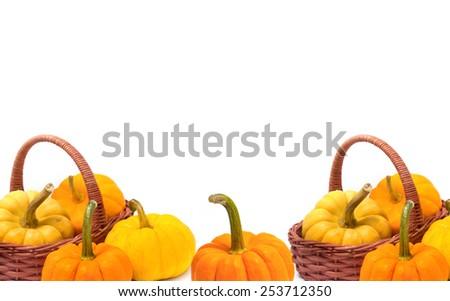 Fresh pumpkin ,food background - stock photo
