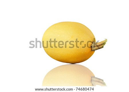 Fresh pumpkin on white background with reflection