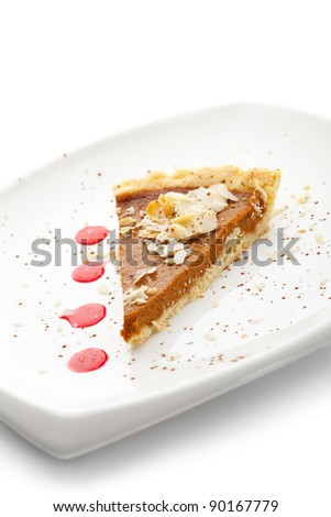 Fresh Pumpkin Pie - stock photo