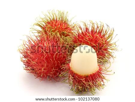 Fresh rambutan sweet delicious fruit of Thailand - stock photo