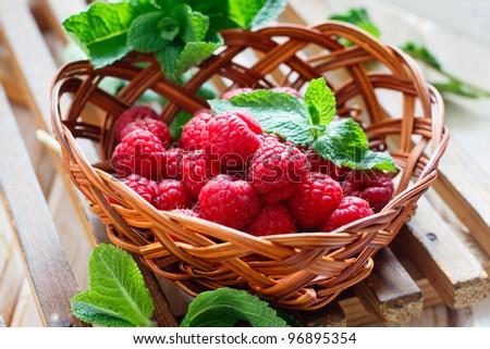 Fresh raspberry - stock photo