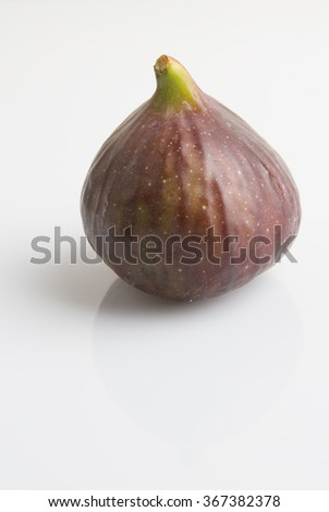 fresh raw fig isolated - stock photo