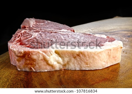 fresh raw meat - stock photo