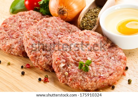 Fresh raw minced meat  - stock photo