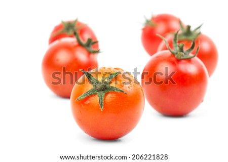Fresh raw tomatoes isolated