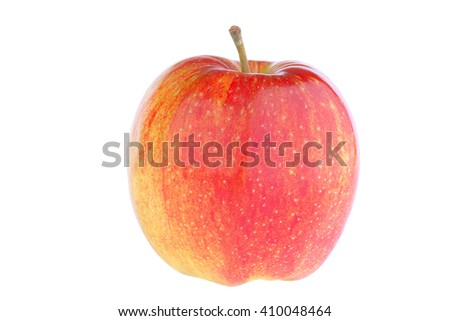 Fresh red apple isolated on white - stock photo