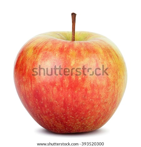 Fresh red apple isolated on white. Clipping path - stock photo