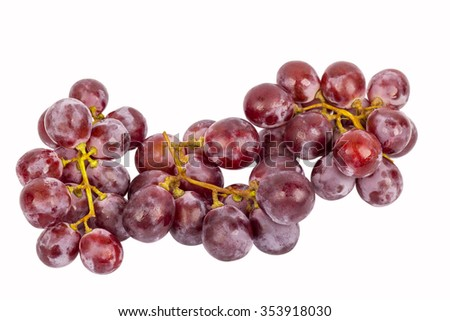 fresh red grape on isolated background - stock photo