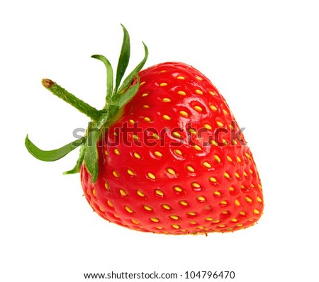 fresh red strawberry - stock photo