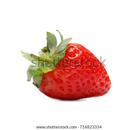 Fresh red strawberry isolated on white background. Summer concept.