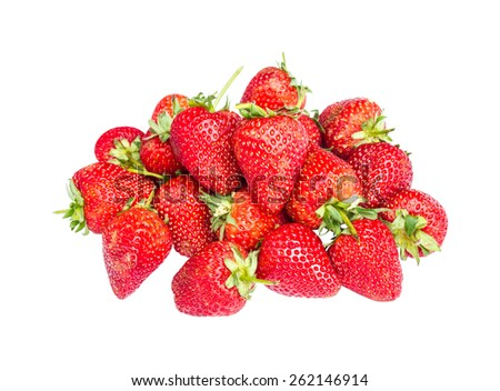 fresh ripe berries photographed close up on a white isolated background. - stock photo