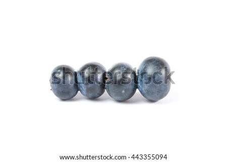 Fresh Ripe Blueberry Dark Fruit sweet one white background