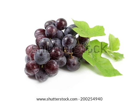 Fresh ripe grapes isolated on white background  - stock photo