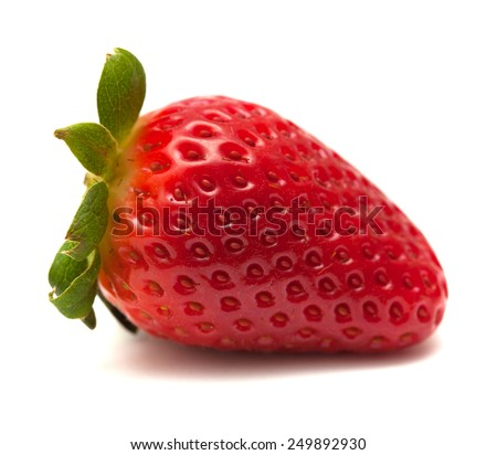Fresh ripe large strawberries isolated on white background - stock photo