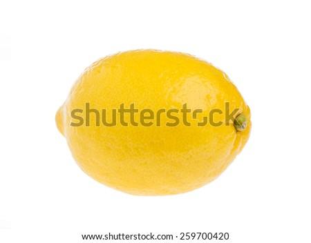 Fresh ripe lemons. Isolated on white background - stock photo