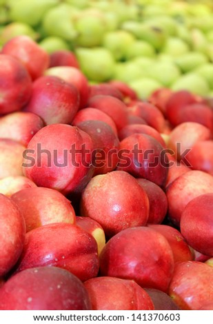 fresh ripe nectarines as an agricultural background