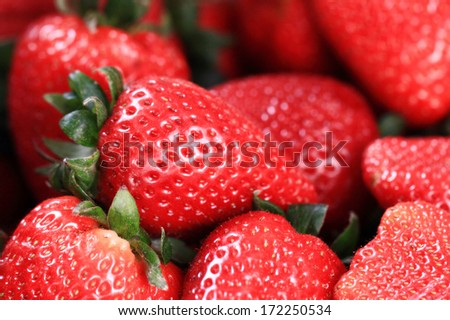 Fresh ripe perfect strawberry - Food Background