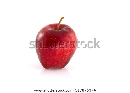 Fresh Ripe red apple isolated on a white background - stock photo