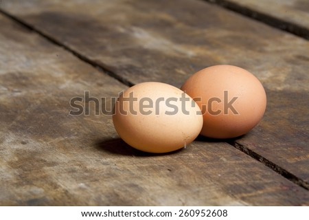 Fresh rural eggs - stock photo