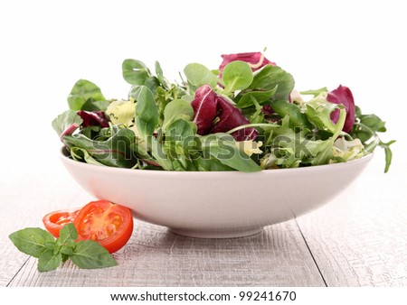 fresh salad - stock photo
