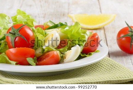 Fresh salad - stock photo