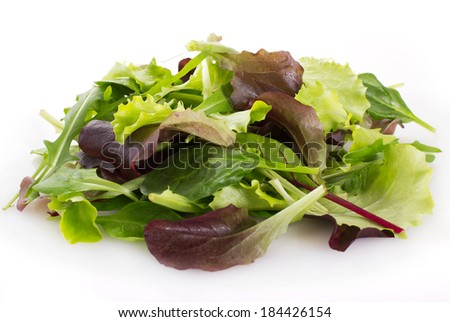 fresh salad isolated on white background