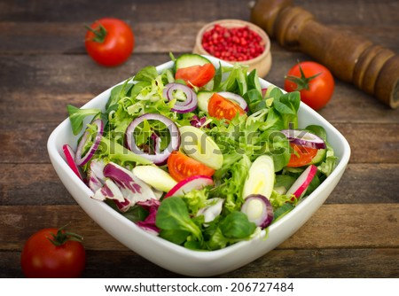 Fresh salad on the table  - stock photo