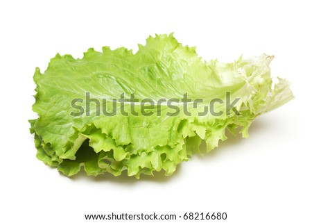 fresh salad on white - stock photo