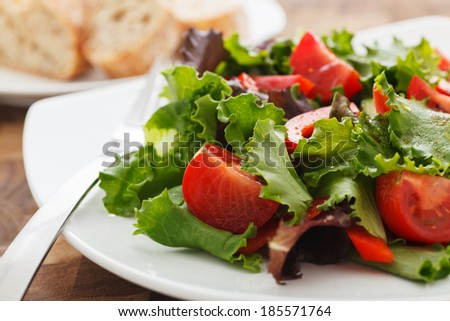 Fresh Salad with Balsamic & Vinegar Dressing