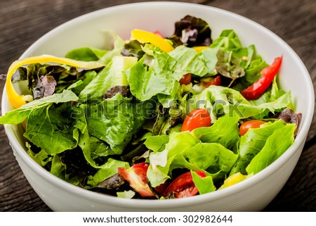 Fresh Salad with tomatoes  - stock photo