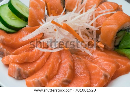 Fresh Sashimi salmon