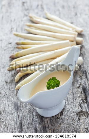 fresh sauce hollandaise - stock photo