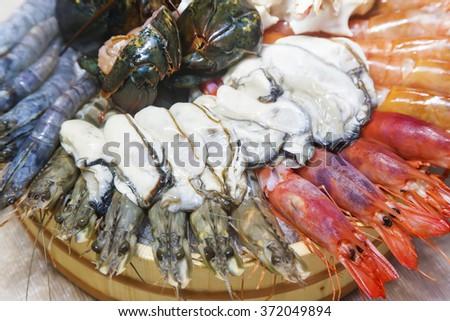 Fresh seafood - stock photo