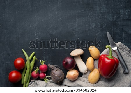 Fresh seasonal vegetable - stock photo