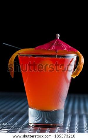Fresh Sex on the beach cocktail - molecular mixology - stock photo