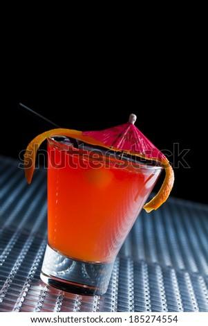 Fresh Sex on the beach cocktail - molecular mixology shallow DOF - stock photo