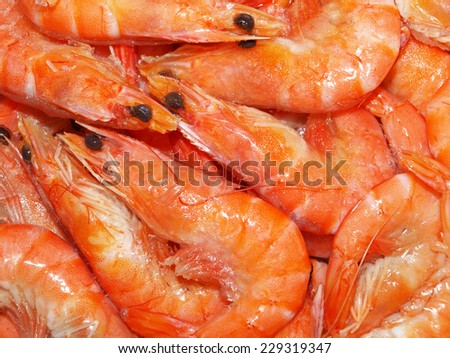 Fresh shrimps