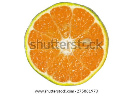 fresh slice orange for making juicy in summer , for your design in advertising , marketing and promotion - stock photo