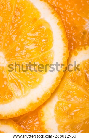 fresh slice orange,macro background - stock photo
