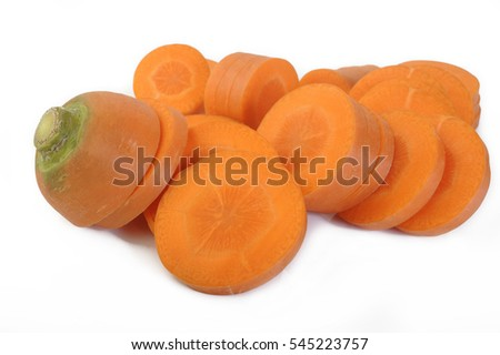 Fresh sliced carrots