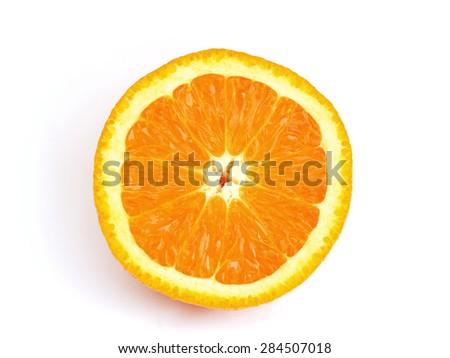 Fresh sliced orange close up - stock photo