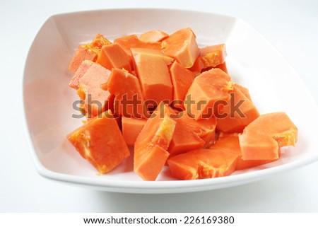 fresh Sliced papaya for healthy living - stock photo
