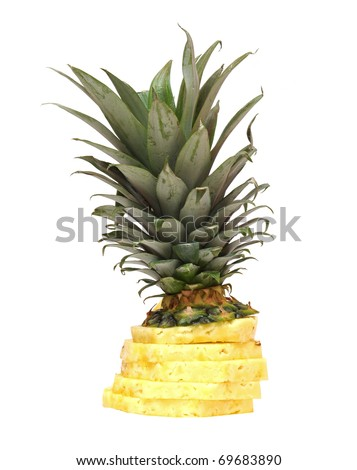 Fresh sliced pineapple