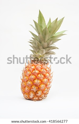 Fresh Small pineapple isolated on white background
