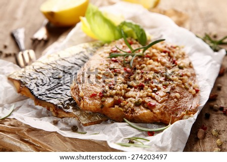 Fresh smoked mackerel with spices