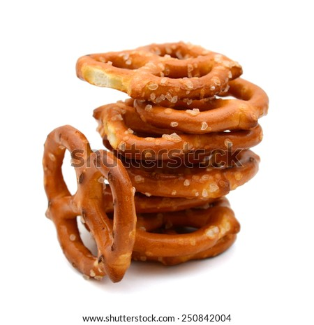 fresh snacks on white background - stock photo