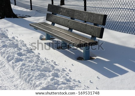 Fresh snow on the streets of New York - stock photo