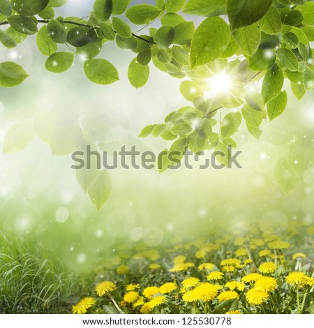 Fresh Spring background - stock photo