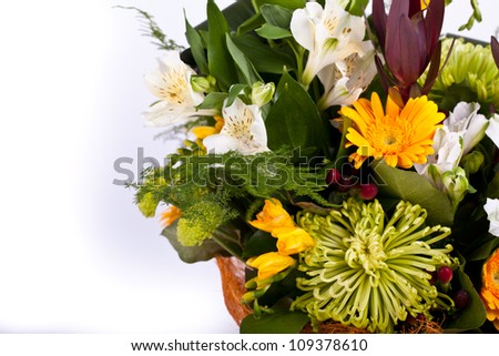 fresh spring bouquet - stock photo